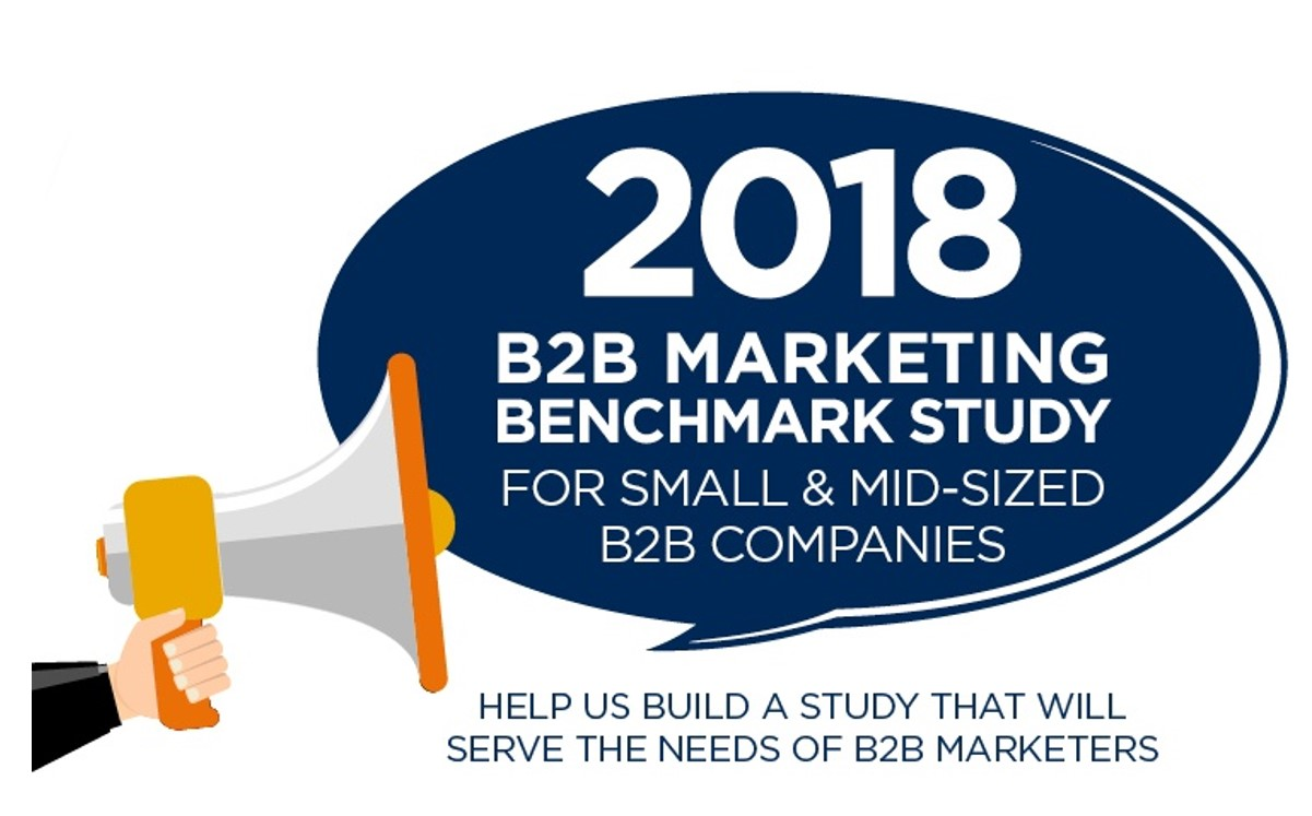 2018 B2B Marketing Benchmark Study Call for questions no learn more callout