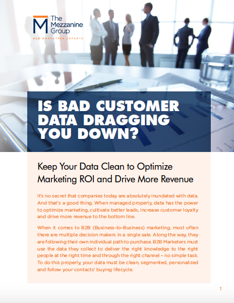Is bad customer data dragging you down cover